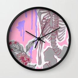 Bones and Flowers Wall Clock