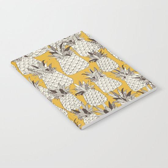 pineapple sunshine yellow Notebook