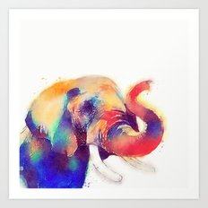 The Majestic - Elephant Art Print