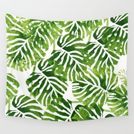 Tropical Leaves - Green Wall Tapestry