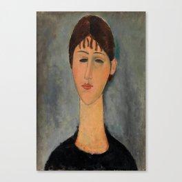 "Amedeo Modigliani ""Portrait of Mme Zborowska"" Canvas Print"