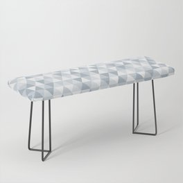shades of ice gray triangles pattern Bench