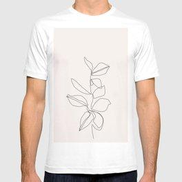 Botanical illustration line drawing - Birdie I T-shirt