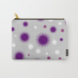 Star Burst Galaxy - Purple Grey White Carry-All Pouch