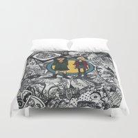 daria Duvet Covers featuring It's a Sick Sad World Daria by MyOwlHasAntlers