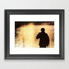 Golden Silhouette Framed Art Print