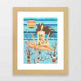 Crane Girl Framed Art Print