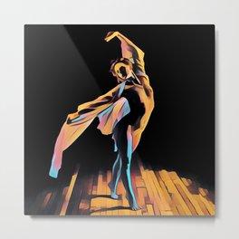 3306s-EH Dancing Woman Rendered in Pastel Female Figure by Chris Maher Metal Print
