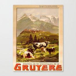 retro  Gruyere vintage poster Canvas Print