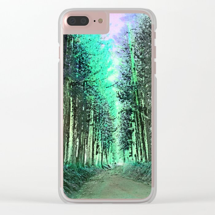 The path not taken Clear iPhone Case
