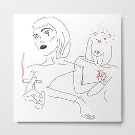 Crimson Wave Metal Print