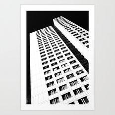 Berlin skyscraper architecture photography in black and white Art Print
