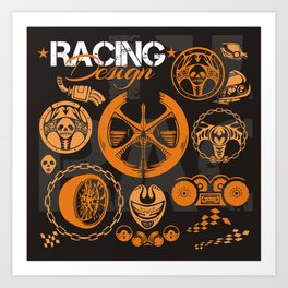 Racing Art Print