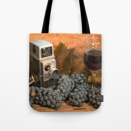 Bell and Howell with Black Grapes Tote Bag
