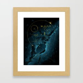 Voyager and the Golden Record - Space | Science | Sagan Framed Art Print