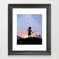 Riddler Kid Framed Art Print