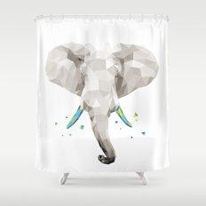 Geosafari   Elephant (White) Shower Curtain