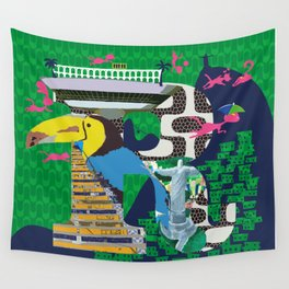 Mews in Rio de Janeiro (Typography) Wall Tapestry