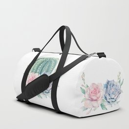 Cactus Rose Succulents Duffle Bag