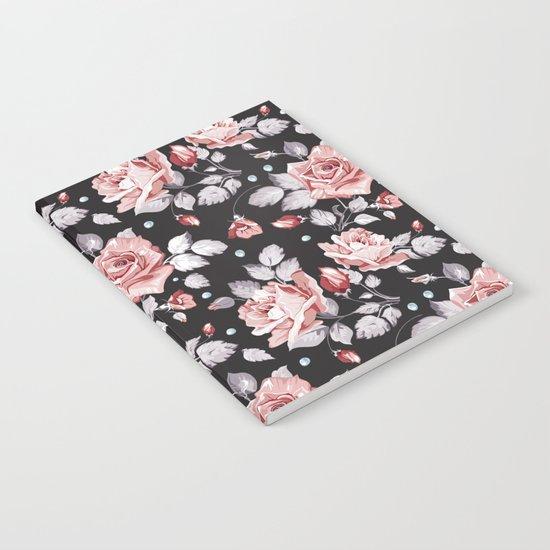 Vintage Pink Rose Flowers Notebook