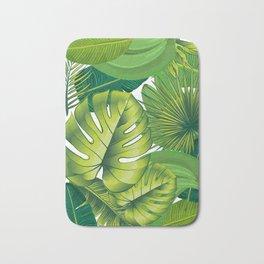 Green leaves palms banana leaf tropical nature art print home decor Bath Mat