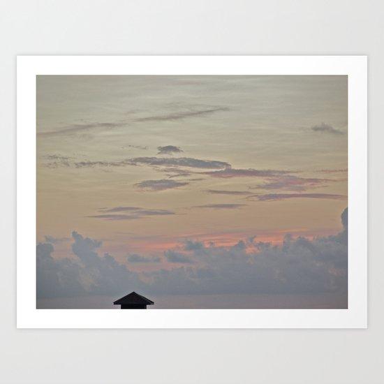 A Pink Sunset Art Print