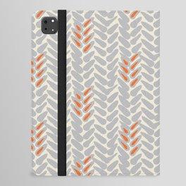 Orange and Grey Wheat Pattern iPad Folio Case