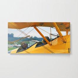 Oldtimer yellow plane Metal Print
