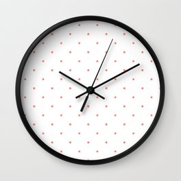 Pink Polka Dots Wall Clock