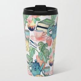 Lazy Afternoon - a chalk pastel illustration pattern Travel Mug