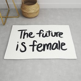 The future is female - hand script Rug