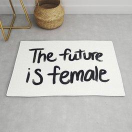 The future is female - hand script Rug