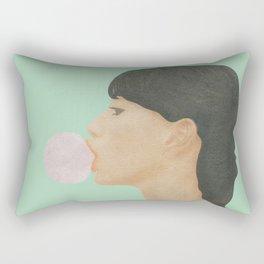 Blowing Bubble Gum Rectangular Pillow