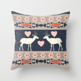 Romantic deer Throw Pillow