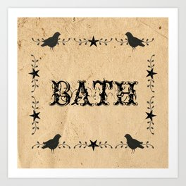 Primitive Bath Art Print