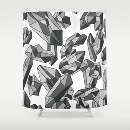 Falling crystals Shower Curtain