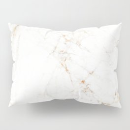 White Marble with Delicate Gold Veins Pillow Sham