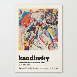 Wassily Kandinsky - Exhibition poster Canvas Print