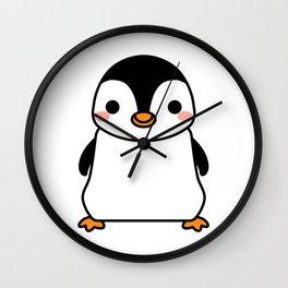 Happy Little Baby Penguin Wall Clock