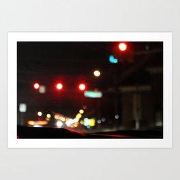 driving at night Art Print