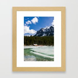 Canoeing in the Mountains Framed Art Print