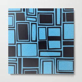 Windows & Frames - Blue Metal Print