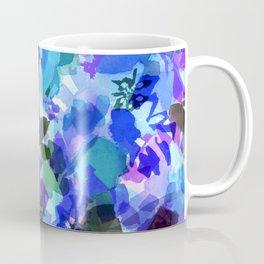 Blue Tulip Floral Coffee Mug