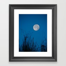 Faded Moon Framed Art Print