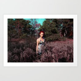PINK FROST 3 Art Print