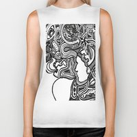 techno Biker Tanks featuring Techno by Madison R. Leavelle