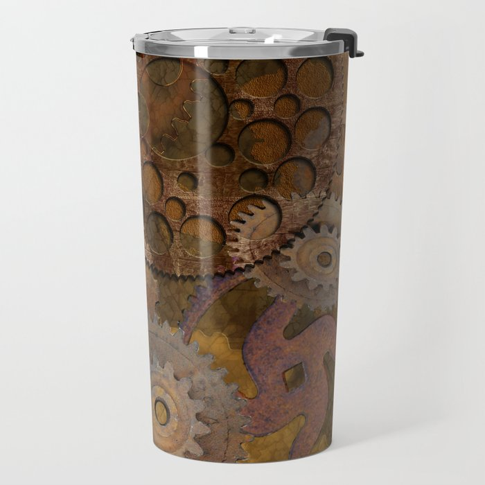 Changing Gear - Steampunk Gears & Cogs Travel Mug