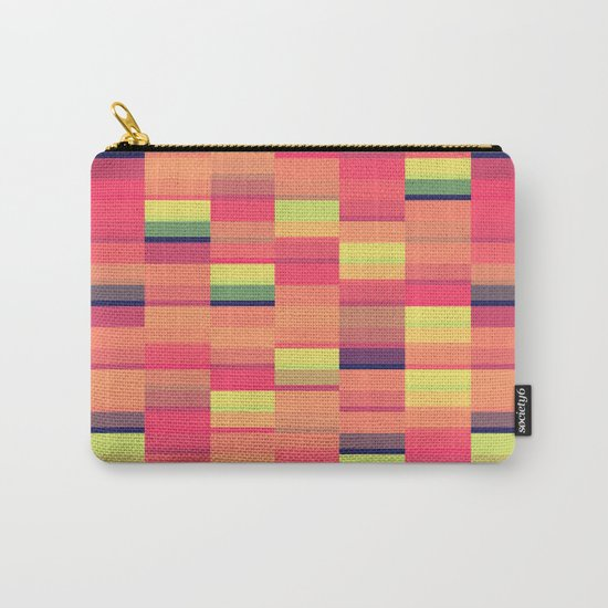 Color Blocks Pattern Carry-All Pouch