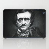 edgar allan poe iPad Cases featuring Edgar Allan Poe Portrait by Eeriette