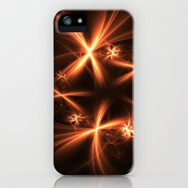 Orange abstract fractal as firework. Holiday theme. iPhone Case